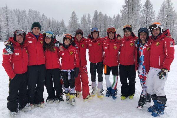 Aspiranti maestri di sci a Courmayeur per l'Eurosécurité