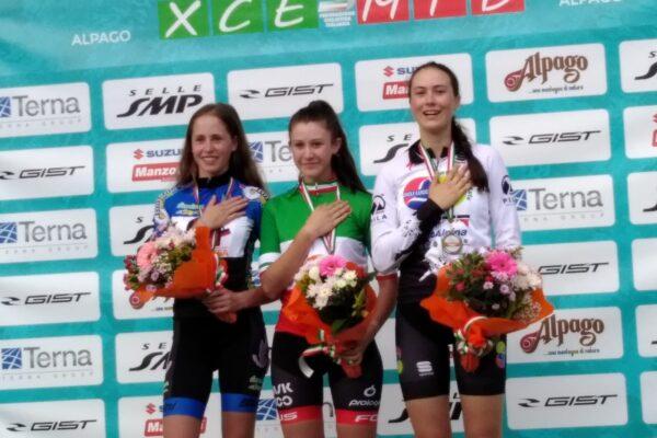 Gaia Tormena medaglia di bronzo nel  campionato italiano Eliminator di Chies d'Alpago