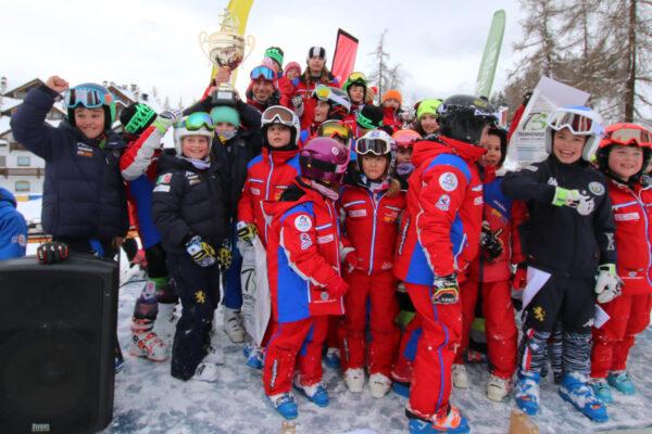 Scuola Sci Monte Bianco prima al Giovanissimi di Pila