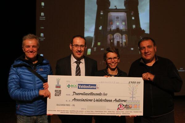 Beneficenza: Il Tour Trail dona 2.700 euro all'Angsa Valle d'Aosta