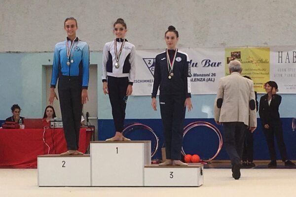 Beatrice Cuaz sul podio del Campionato Gold di Valenza. Iniziata la stagione della ritmica del Club des Sports
